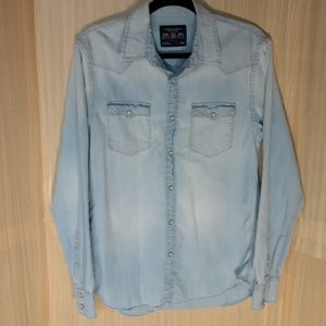 American Eagle denim button down shirt.  Medium